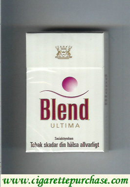 Blend Ultima cigarettes hard box