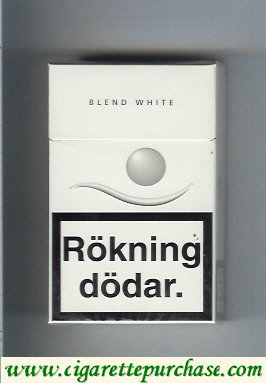 Blend blend White cigarettes Sweden