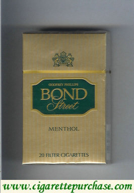 Bond Street Godfrey Phillips Menthol cigarettes USA