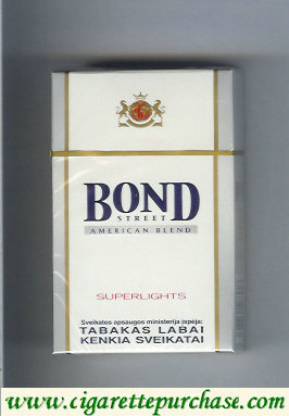 Bond Street Superlights cigarettes American Blend Switzerland Lithuania