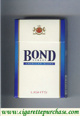 Bond Street cigarettes American Blend Lights Russia USA