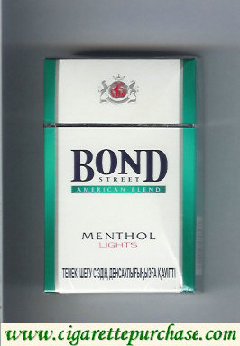 Bond Street cigarettes Menthol Lights American Blend Switzerland