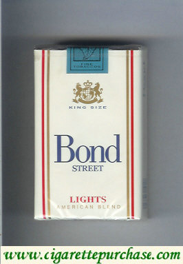 Bond Street light cigarettes American Blend USA