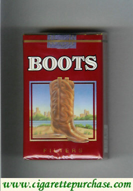Boots Filters cigarettes red USA Mexico