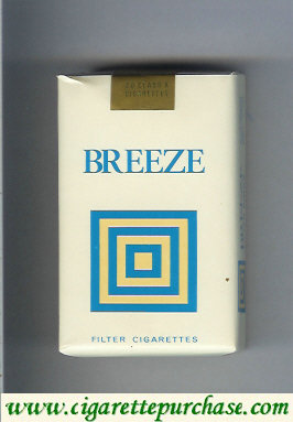 Breeze filter cigarettes collection series USA