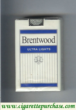 Brentwood Ultra Lights cigarettes USA