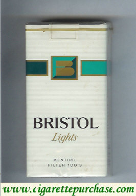 Discount Bristol Lights Menthol 100s cigarettes USA