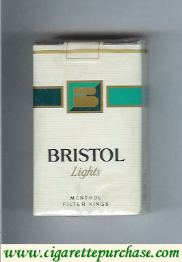 Discount Bristol Lights Menthol cigarettes USA