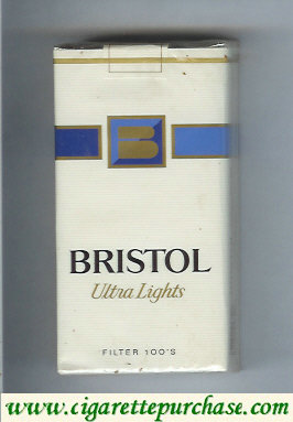 Discount Bristol Ultra Lights 100s cigarettes USA