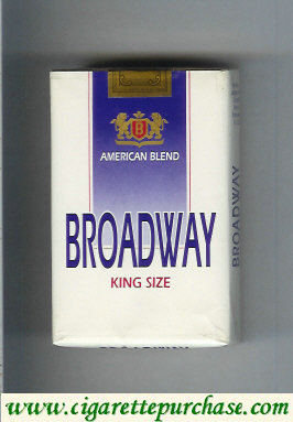 Broadway American Blend king size cigarettes soft box USA