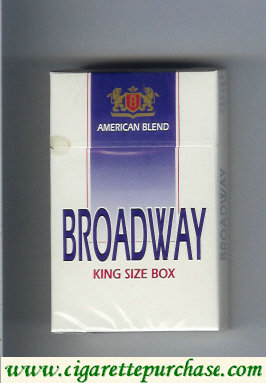 Broadway king size box cigarettes American Blend