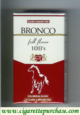 Bronco Full Flavor 100S cigarettes Colombian Blend Colombia