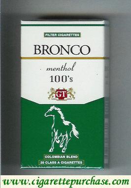 Discount Bronco Menthol 100s cigarettes