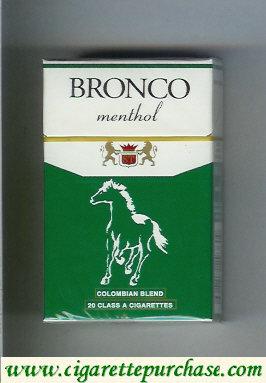 Discount Bronco Menthol cigarettes