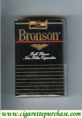 Bronson Full Flavor Non-Filter cigarettes