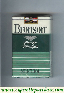 Discount Bronson Lights Menthol cigarettes