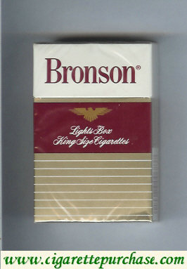 Bronson Lights cigarettes hard box