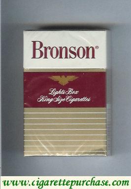 Discount Bronson Lights cigarettes hard box