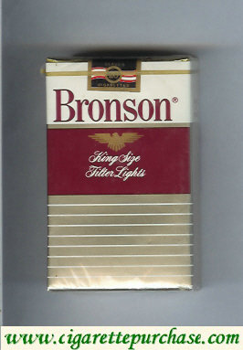 Bronson Lights cigarettes soft box