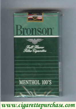 Discount Bronson Menthol 100s cigarettes Full Flavor