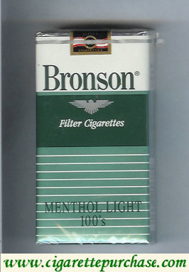 Bronson Menthol Lights 100s cigarettes filter