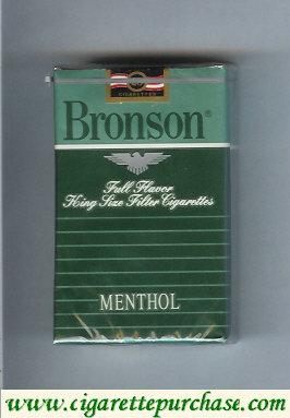 Discount Bronson Menthol cigarettes Full Flavor