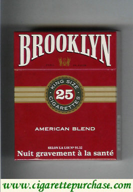 Brooklyn American Blend cigarettes king size 25
