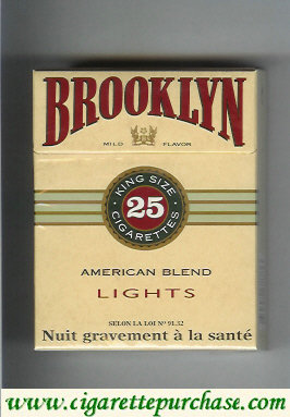 Brooklyn cigarettes American Blend Lights king size 25