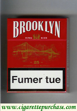 Brooklyn red 25 cigarettes American Blend
