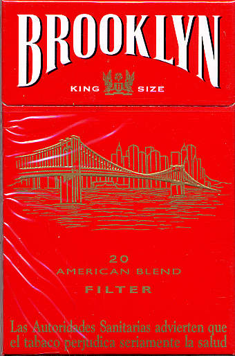 Brooklyn red cigarettes American Blend filter France
