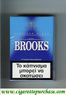 Brooks blue cigarettes American Blend Selected Quality Tobaccos