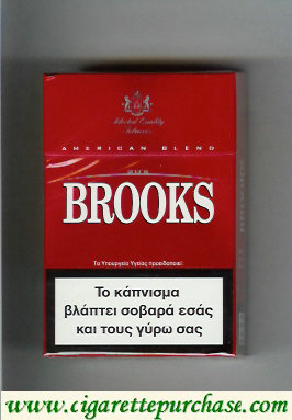 Brooks red cigarettes American Blend Selected Quality Tobaccos