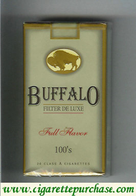 Buffalo 100s cigarettes Filter De Luxe Full Flavor