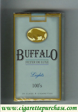 Discount Buffalo Lights 100s cigarerttes Filter De Luxe