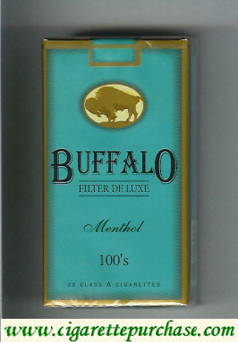 Discount Buffalo Menthol 100s cigarettes Filter De Luxe