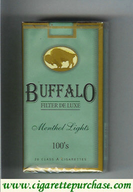 Discount Buffalo Menthol Lights 100s cigarettes Filter De Luxe