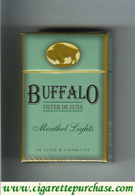 Discount Buffalo Menthol Lights cigarettes Filter De Luxe
