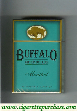 Discount Buffalo Menthol cigarettes Filter De Luxe