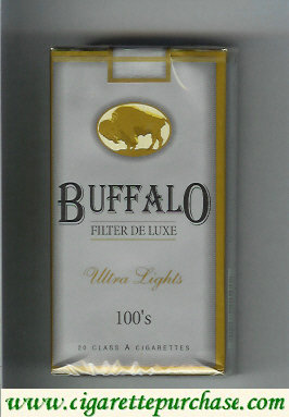 Discount Buffalo Ultra Lights 100s cigarettes Filter De Luxe