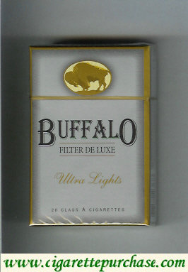 Discount Buffalo Ultra Lights cigarettes Filter De Luxe