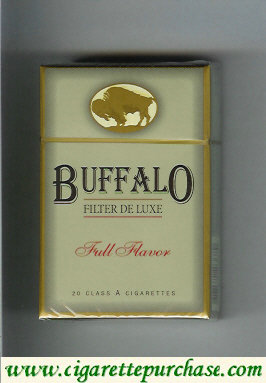 Discount Buffalo cigarettes Filter De Luxe Full Flavor