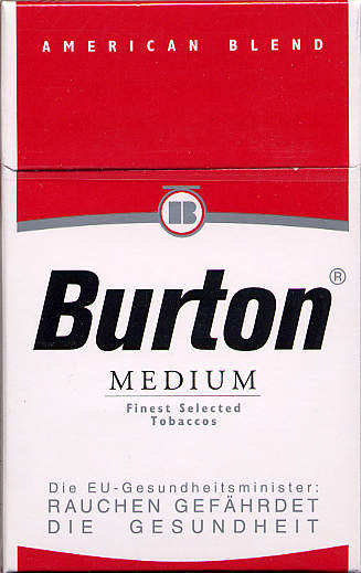 Discount Burton Medium cigarettes American Blend Germany