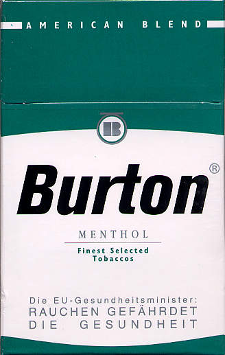 Discount Burton Menthol cigarette American Blend Germany