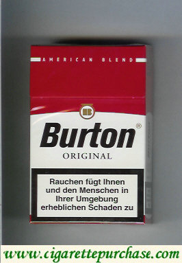 Discount Burton Original cigarette American Blend Germany