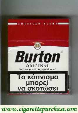 Discount Burton Original cigarette American Blend Greece Germany