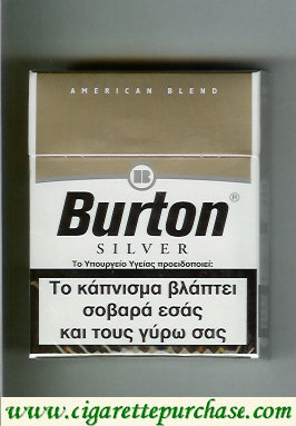 Discount Burton Silver cigarettes American Blend Greece Germany