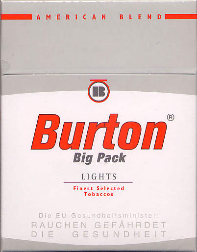 Discount Burton big pack Lights cigarettes American Blend Germany