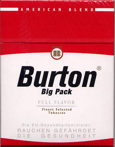 Discount Burton cigarettes big pack full flavor American Blend