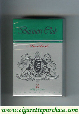 Business Club Menthol cigarette England