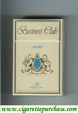 Business Club Mild cigarette England